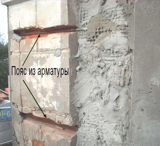 Армирующий пояс для укрепления стены